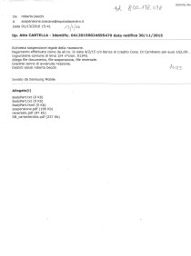 richiesta sospensione mail